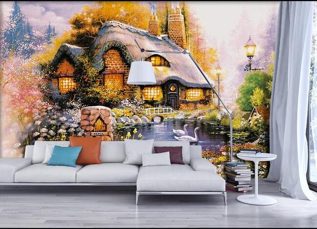 Сказочный замок на стене в квартире