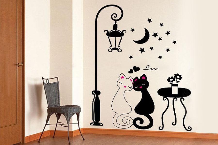 Декор стен кошки