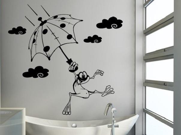 Декор стены в ванной