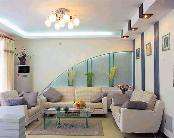Использование гипсокартона в дизайне гостиной