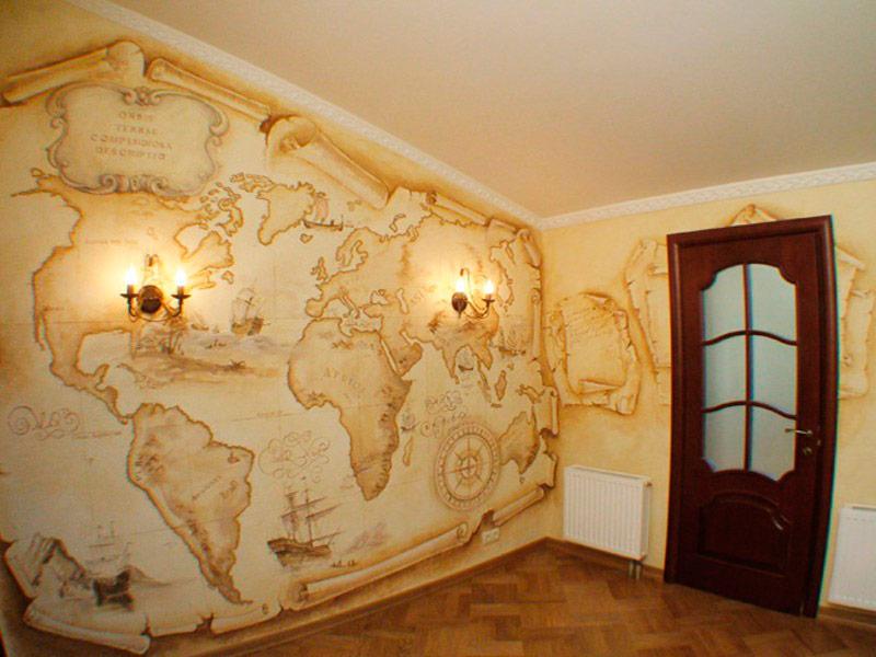 Катография на стене
