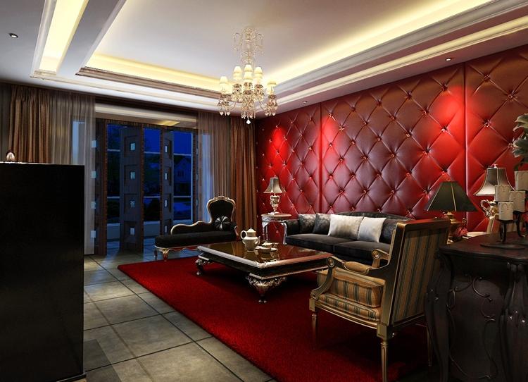 Кожа в дизайне гостиной