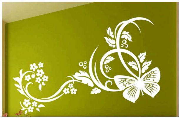 Обратный шаблон для декора стен