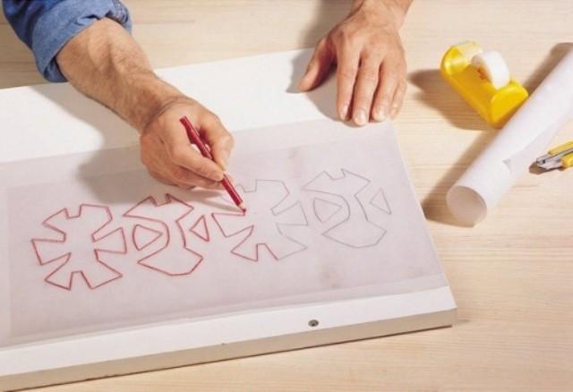 Рисуем шаблон на картоне