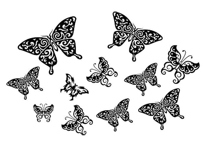 Бабочка с ажурными крыльями