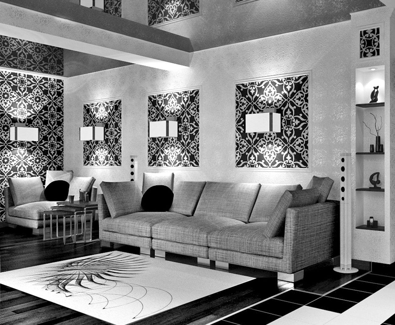 Вставки при комбинировании рисунков на стенах