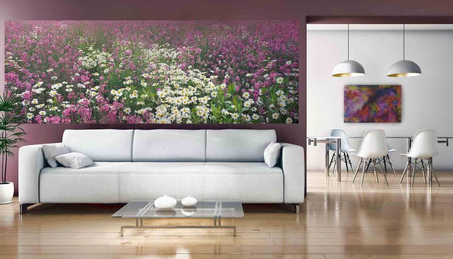Рисунок с полевыми цветами