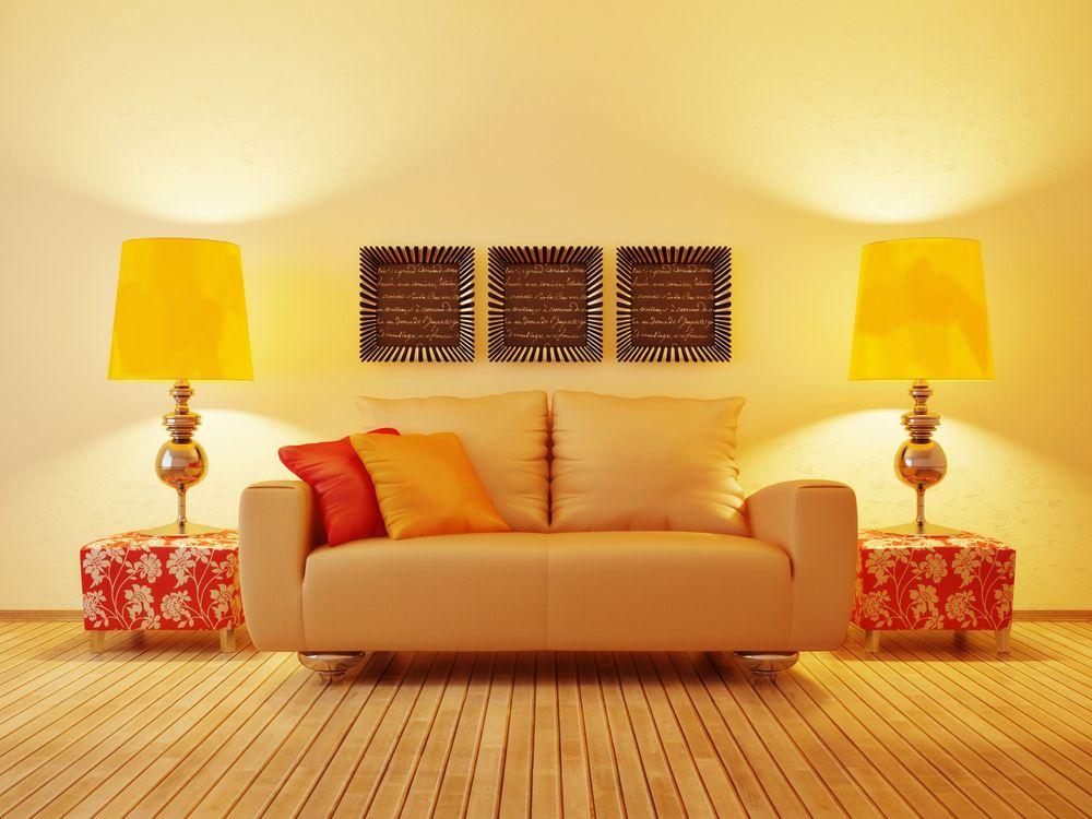 Дизайн комнаты в желтом цветовой гамме