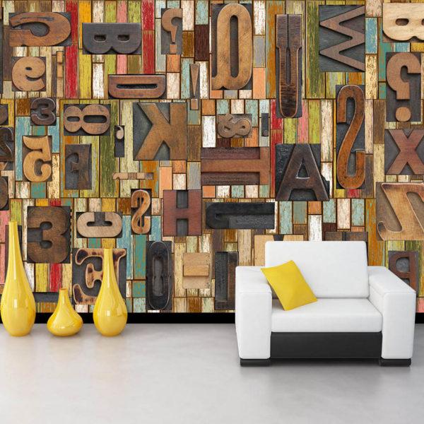 Абстрактный рисунок на стеновых полотнах