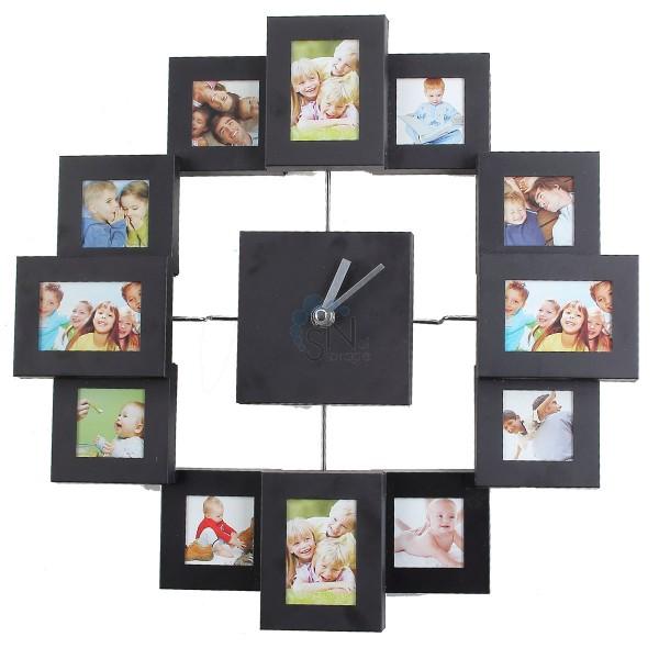 Часы настенные окруженные фотографиями