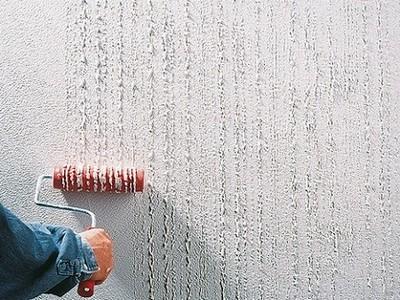 Декоративное оштукатуривание стен фактурным валиком