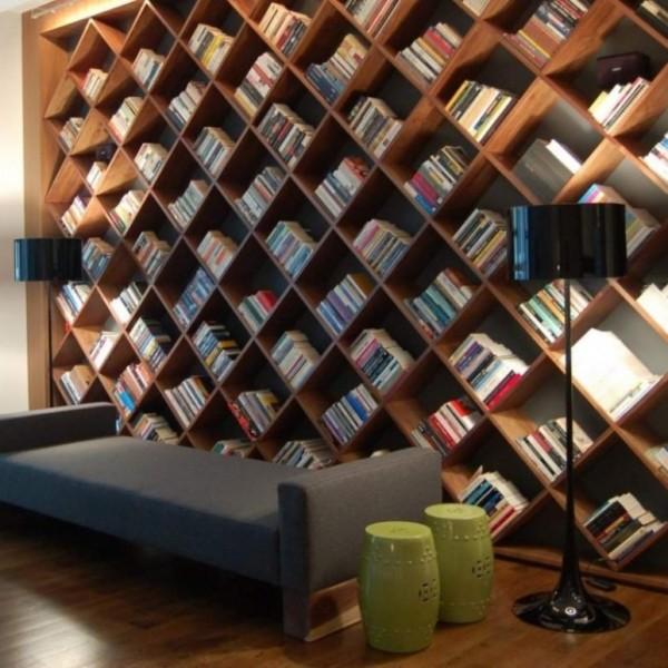 Книжные полки соты