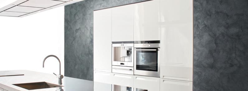 Краска с песком в интерьере кухни