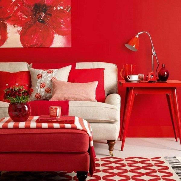 Красный цвет в интерьере