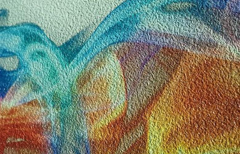 Многоцветная краска с песочным эффектом