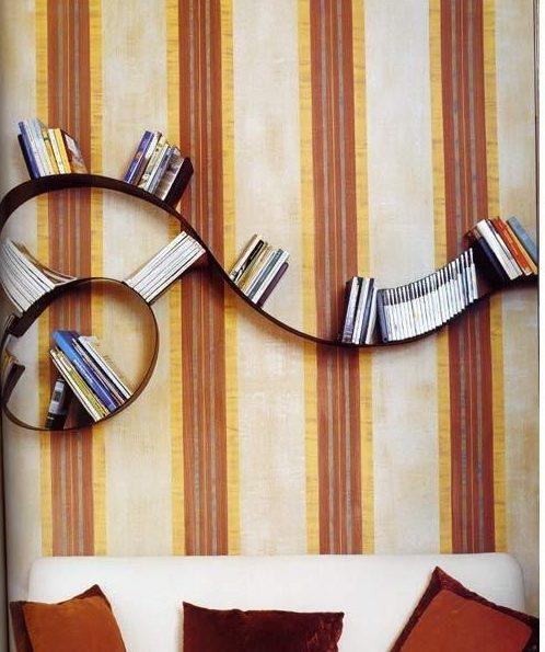 Необыкновенные полочки для книг