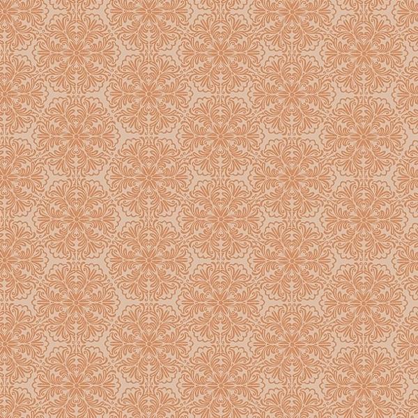 Обои персикового цвета с орнаментом