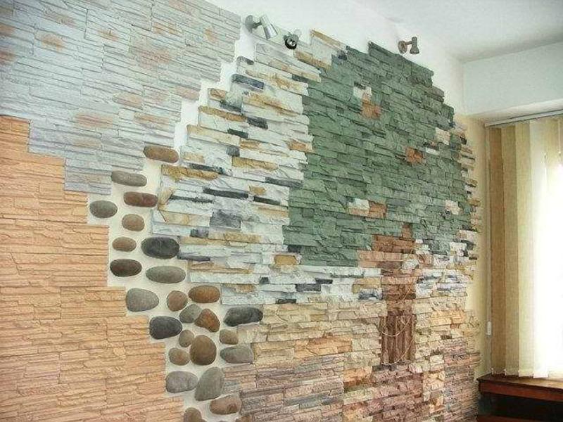 Отделка стен флоковой штукатуркой