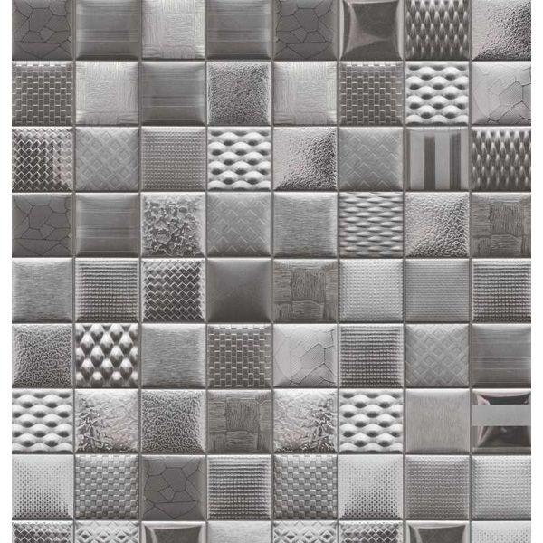 Панель в виде мозаики серого цвета