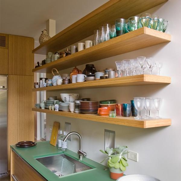Стеновые полки на кухню