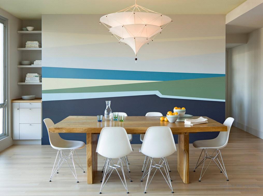 Покраска стен арнаментом