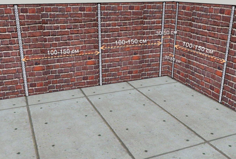 Размечаем расстояние между маяками