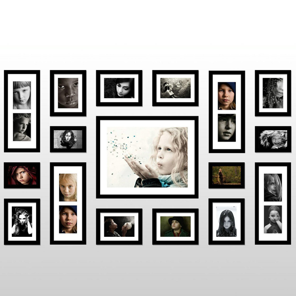 Расположение рамок для фотографий