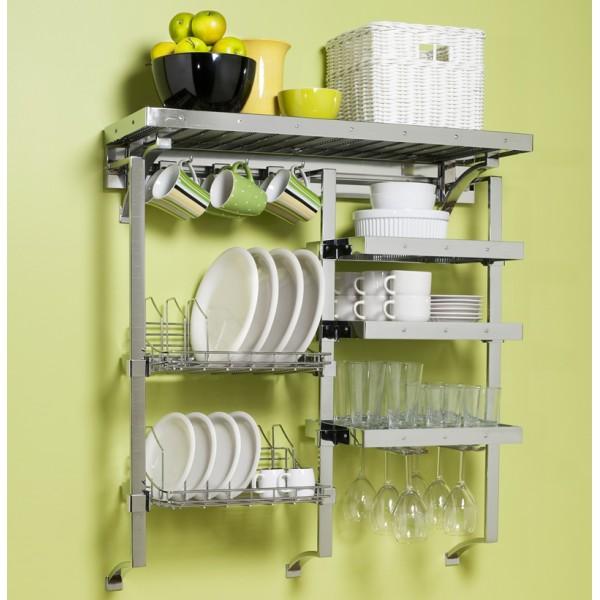 Решетчатые полки на кухни