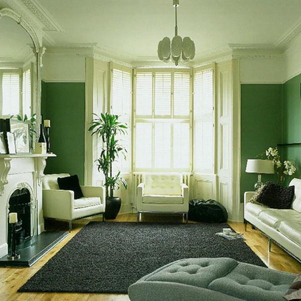 Сетло-зеленый с белым