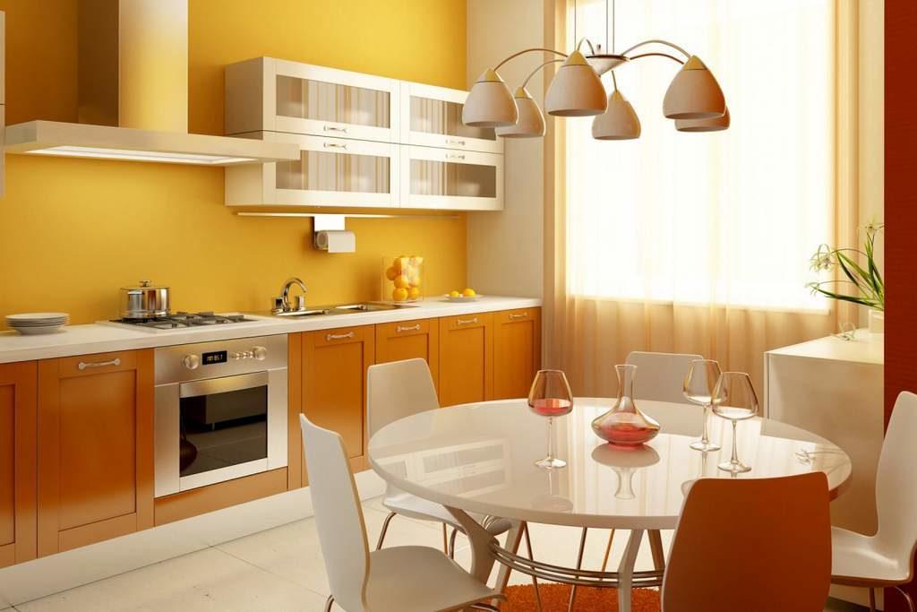 Теплые оттенки для кухни