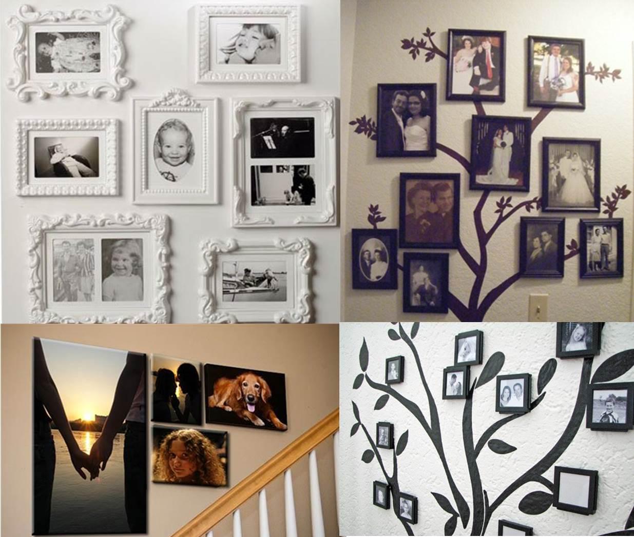 Как сделать на стене рамки для фото