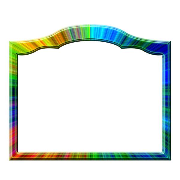 Разноцветная прямоугольная рамка для фото