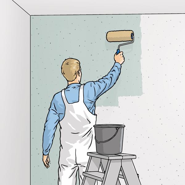Обработка стены перед оклейкой