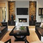 Как оформить стену в гостиной с камином