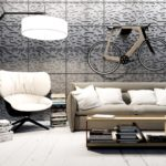 Декоративный бетон в декоре стен