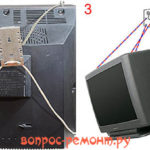 Как повесить на стену старый телевизор