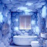 ЗД фотообои в ванной комнате