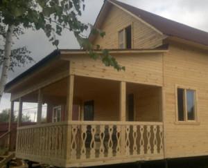 Деревянная пристройка для дома из бруса