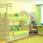 Детская комната для двоих детей одного пола
