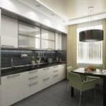 Дизайн интерьер кухни 18 кв.м.