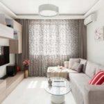 Интерьер маленькой гостиной в частном доме