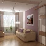Однотонное оформление комнаты