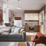 Оформление большой комнаты