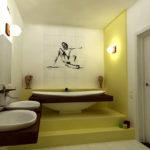 Освещение ванной комнаты по фен шуй