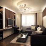 Приятный дизайн небольшой гостиной