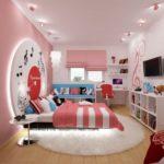 Розовый декор комнаты для девочки своими руками