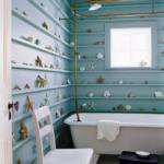 Ванная комната в пляжном стиле