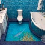 Наливные 3D полы — лучший вариант для ванной комнаты