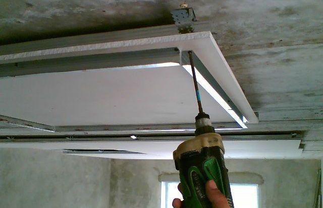 Потолок из гипсокартона (Устройство потолка)