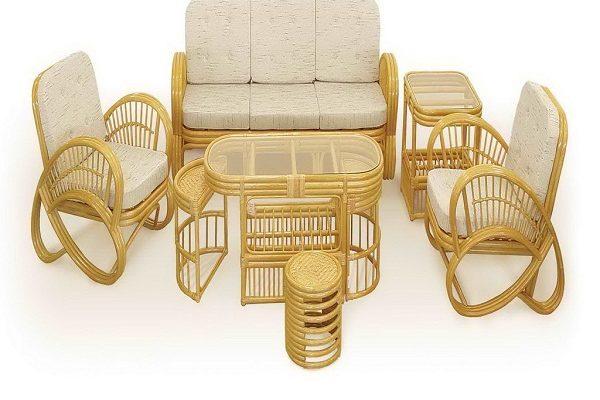 В интерьере – ротанговая мебель